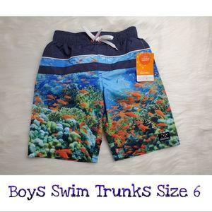 NWT Boys Size 6 Swim Trunks UPF 50